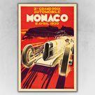 Monaco 1930 Grand Prix Automobile Grand Prix Road Racing Poster - 16x24