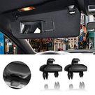 PorporBooya 2 Pack Interior Sun Visor Hook Clip Bracket for Audi A1 A3 A4 A5 Q3 Q58E0 857 562   Black