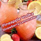 Pineapple Vodka Strawberry Lemonade