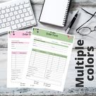 Light Pink and Green Header Customized Order Form