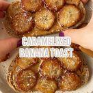 Peanut Butter Toast with Caramelized Bananas - Veggie World Recipes