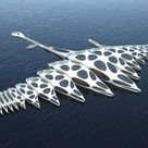gianluca santosuosso's floating MORPhotel concept drifts with the ocean currents