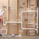 Laundry Room Plumbing Routes Install the drain and vent