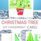 DIY Fingerprint Christmas Tree Card | Arty Crafty Kids