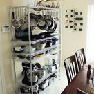 A Smart, Effective Wire Shelving Unit for Kitchen Storage