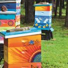 How to Make Gorgeous Painted Beehives - Garden Therapy
