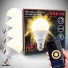 WiFi LED Leuchtmittel E27 9W | 4er Set