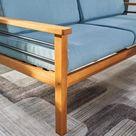 VIFAH Gloucester Teak-like 4-Piece Patio Sofa