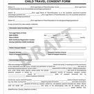 Child Travel Consent Form [PDF & Template] | Legal Templates