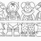 50+ Faschingsbilder zum Ausdrucken kostenlos - Ausmalbilder für Kinder