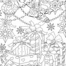 Gifts  Printable Adult Coloring Page from Favoreads Coloring | Etsy
