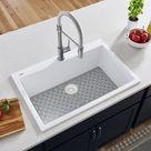 Ruvati 33 X 22 Inch Granite Composite Drop-In Topmount Kitchen Sink Single Bowl - Midas Yellow - RVG1080YL White 10.0 x 33.0 x 22.0 in | Wayfair Canada