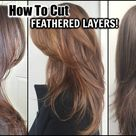 HOW TO CUT YOUR HAIR AT HOME IN FEATHERED LAYERS│DIY LAYERS HAIRCUT│HOW TO SHORT LAYERS IN LONG HAIR
