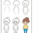 Draw Children Step by Step Tutorial | Woo! Jr. Kids Activities : Children's Publishing