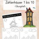Zahlenhäuser von 1 bis 10 - Übungsheft - Mathematik