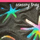 Sensory Firework Activity Craft for Toddlers Bonfire Night
