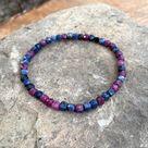 Ruby Sapphire Cube Bracelet - 7