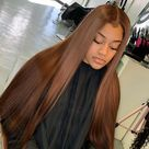 Winter Friendly Warm Brown Silky Straight Lace Frontal Wig - 28 inches