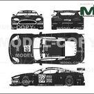 Aston Martin DBR9 LeMans No.59 2005   2D drawing blueprints   22477   Model COPY   English