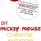 DIY Mickey Mouse Clubhouse Party Invitations!