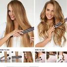 🌟50% off Clearance Sale🌟Automatic Release Negative Ions 2 in 1 Hair Curler and Straightener - BLACKROSE(UPGRADED VERSION) / EU PLug