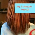 My Easy DIY 5 Minute Layered Haircut - Practical Stewardship
