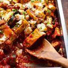 Ratatouille-Maultaschen-Auflauf mit Feta (vegetarisch!) - Kochkarussell