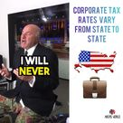 Corporate tax rates varies from state to state