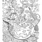 Halloween: Adult Coloring Book PDF Coloring Pages Digital | Etsy