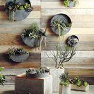 Wall Planters- Zinc Indoor/Outdoor Planters-Circle & Semi Circle by Artisan Living