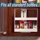 ON SALE   Multi-Function Rotating Storage Rack For Spices & Pill Bottles