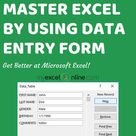 FREE Tutorial - Excel Data Forms Mastery!