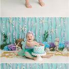 How to do a Mermaid Cake Smash, Raleigh - Tonya Hurter Photography