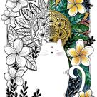 Adult Coloring Indian Cat Mandala Coloring Page   Etsy