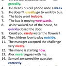 38 Adverb Sentences, Example Sentences with Adverbs in English - English Study Here