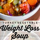 Weight Loss Soup Turkey Vegetable Soup from The Food Charlatan