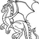 coloriage dragon magique