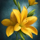 Yellow Flowers by Night2 on DeviantArt