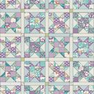 Tilda Lazy Days FOUR BLOCK Quilt & Pillow Kit in Lilac/Teal with Backing | 54