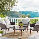 Athens All-Weather Wicker Patio Set