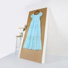 Off Shoulder Boho Lace Smocked Maxi Dress - Ocean Blue / S