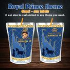 Royal Prince Capri Sun sticker prince theme juice label capri sun juice label juice pouch labels prince boy party favors prince decorations
