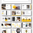 Yellow Blue Professional Corporate Clean PowerPoint Template – Original and High Quality PowerPoint Templates