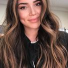 Brown Hair Colour Ideas for 2021 : Dark brown with copper highlights
