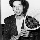 ALTHEA GIBSON 1927 2003. American tennis champion. Photograph by Fred Palumbo, 1956. 1000 Piece Puzzle. ALTHEA GIBSON 1927 2003. <br> American te.