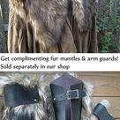 Viking Fur Leggings / Boot Covers, Leg Warmers, Pair - Medieval, Renaissance Fair Costume Accessory - Faux Fur Choose Your Color - /P/ (AB)