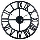 Black Metal Roman Numeral Wall Clock 39cm