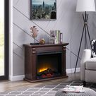 Bold Flame 33.46 inch Electric Fireplace in Chestnut - Walmart.com