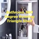 Bathroom 360 Degree Rotating Triangle Shelf