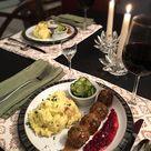 [homemade] Swedish meatballs, pickled cucumber, lingonberries, and potatoes